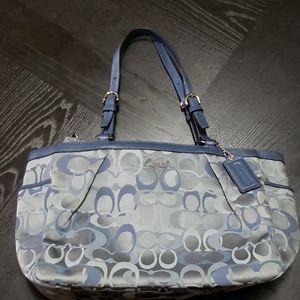 Coach blue tote bag